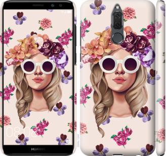 Чехол на Huawei Mate 10 Lite / Honor 9i Девушка с цветами v2