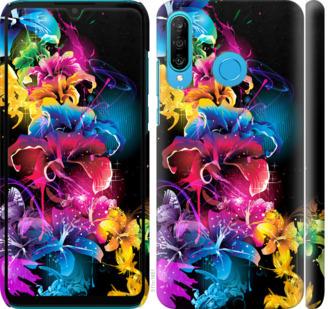 Чехол на Huawei P30 Lite Абстрактные цветы