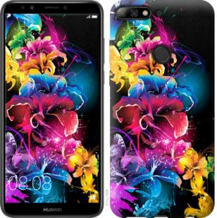 Чехол на Huawei Y7 Prime 2018 Абстрактные цветы