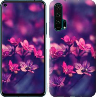 Чехол на Huawei Honor 20 Pro Пурпурные цветы