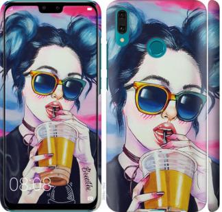 Чехол на Huawei Y9 2019 Арт-девушка в очках