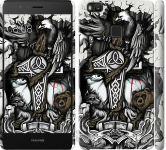 Чехол на Huawei P9 Lite Тату Викинг