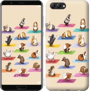 Чехол на Huawei Honor V10 / View 10 Йога морских свинок