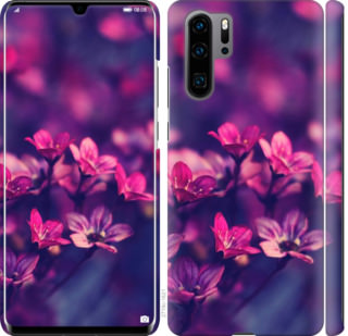Чехол на Huawei P30 Pro Пурпурные цветы