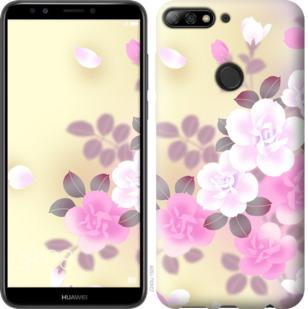 Чехол на Huawei Y7 Prime 2018 Японские цветы