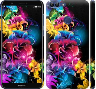Чехол на Huawei P Smart Абстрактные цветы