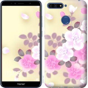 Чехол на Huawei Honor 7A Pro Японские цветы