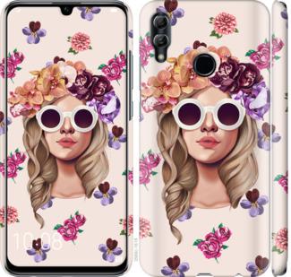 Чехол на Huawei Honor 10 Lite Девушка с цветами v2