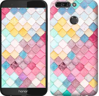 Чехол на Huawei Honor V9 / Honor 8 Pro Красочная черепица
