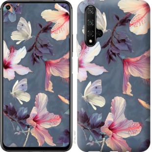 Чехол на Huawei Honor 20 Нарисованные цветы