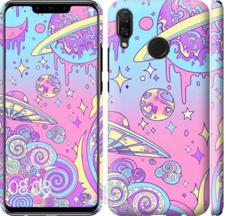 Чехол на Huawei Nova 3 Розовая галактика