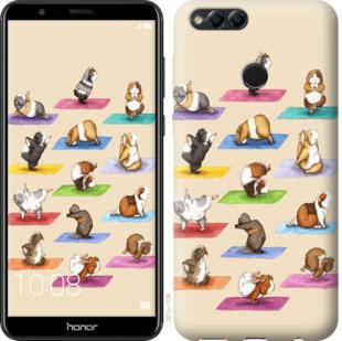 Чехол на Huawei Honor 7X Йога морских свинок