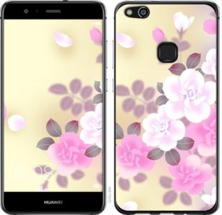 Чехол на Huawei P10 Lite Японские цветы