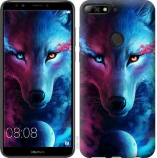 Чехол на Huawei Y7 Prime 2018 Арт-волк