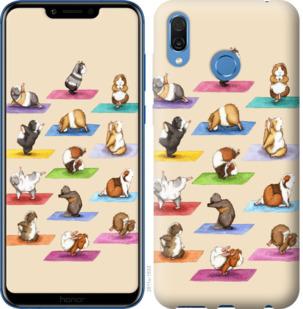 Чехол на Huawei Honor Play Йога морских свинок