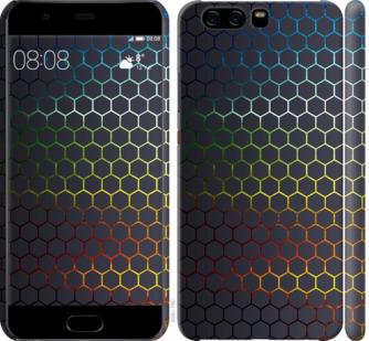 Чехол на Huawei P10 Переливающиеся соты