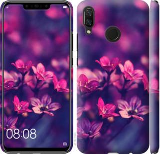 Чехол на Huawei Nova 3 Пурпурные цветы