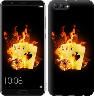 Чехол на Huawei Honor V10 / View 10 Горящие карты