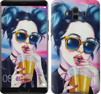 Чехол на Huawei Mate 10 Арт-девушка в очках