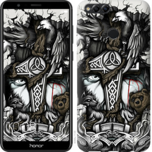 Чехол на Huawei Honor 7X Тату Викинг