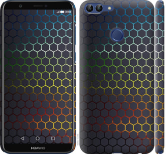 Чехол на Huawei P Smart Переливающиеся соты