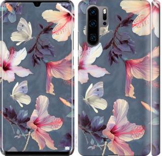 Чехол на Huawei P30 Pro Нарисованные цветы