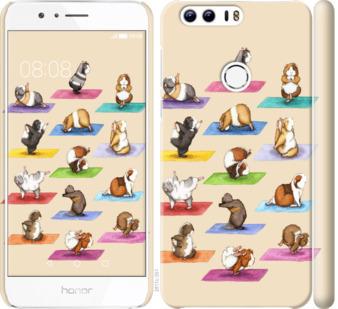 Чехол на Huawei Honor 8 Йога морских свинок