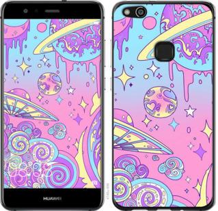 Чехол на Huawei P10 Lite Розовая галактика