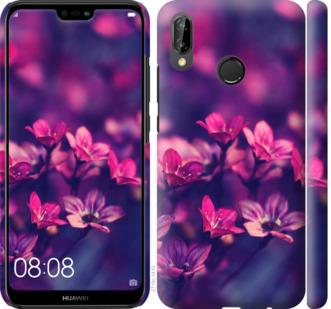 Чехол на Huawei P20 Lite Пурпурные цветы