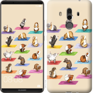 Чехол на Huawei Mate 10 Pro Йога морских свинок