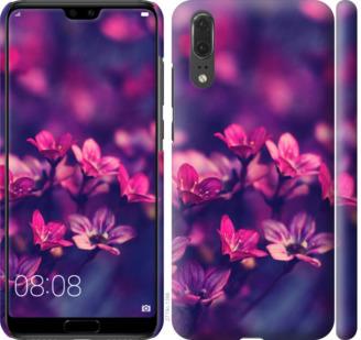 Чехол на Huawei P20 Пурпурные цветы