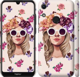 Чехол на Huawei Honor 8A Девушка с цветами v2