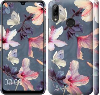 Чехол на Huawei P Smart 2019 Нарисованные цветы