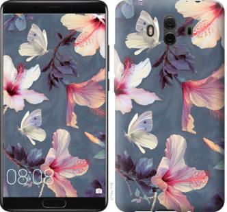Чехол на Huawei Mate 10 Нарисованные цветы