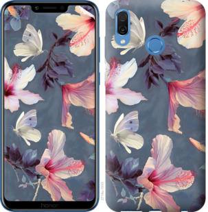 Чехол на Huawei Honor Play Нарисованные цветы