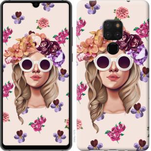 Чехол на Huawei Mate 20 Девушка с цветами v2