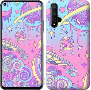 Чехол на Huawei Honor 20 Розовая галактика
