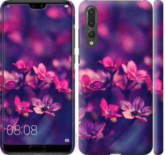 Чехол на Huawei P20 Pro Пурпурные цветы
