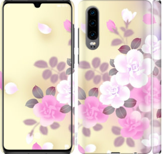 Чехол на Huawei P30 Японские цветы