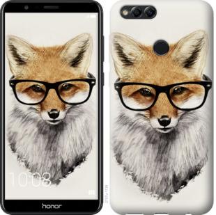 Чехол на Huawei Honor 7X Лис в очках