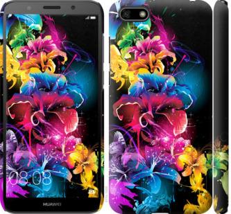 Чехол на Huawei Y5 2018 Абстрактные цветы