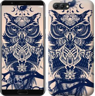 Чехол на Huawei Honor V10 / View 10 Узорчатая сова