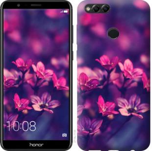 Чехол на Huawei Honor 7X Пурпурные цветы