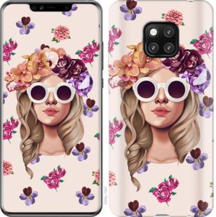 Чехол на Huawei Mate 20 Pro Девушка с цветами v2