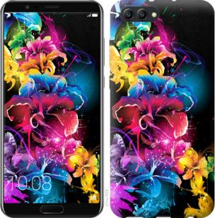 Чехол на Huawei Honor V10 / View 10 Абстрактные цветы