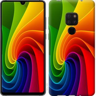 Чехол на Huawei Mate 20 Радужный вихрь