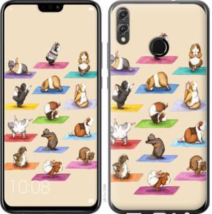 Чехол на Huawei Honor 8X Йога морских свинок