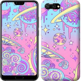 Чехол на Huawei Honor 10 Розовая галактика