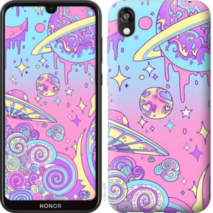 Чехол на Huawei Honor 8S Розовая галактика