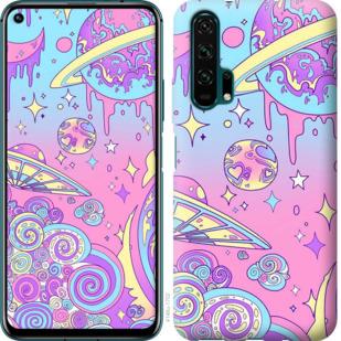 Чехол на Huawei Honor 20 Pro Розовая галактика